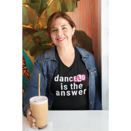 Ladies 'Dance Is The Answer' V-Neck PREMIUM T-Shirt