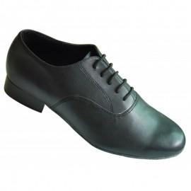 Mens Black Lace Up Line Dance Shoe