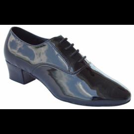 Mens Black Patent Leather Line Dance Shoes