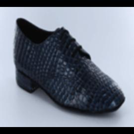 Mens Navy Alligator line dance shoes
