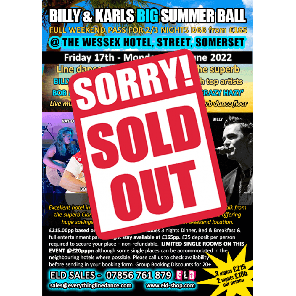 Billy & Karls Big Summer Ball - June 2022