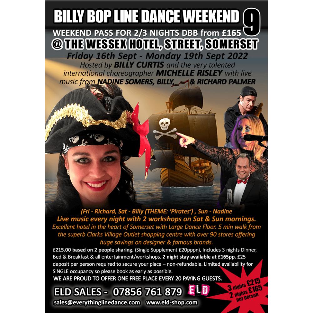 Billy Bop Line Dance Weekend 9 - Sept 2022